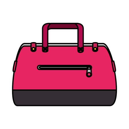 fashion feminine handbag icon vector illustration design