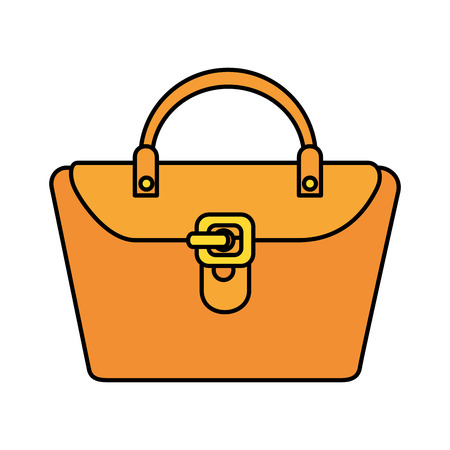 fashion feminine handbag icon vector illustration design