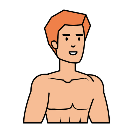 athletic man shirtless character vector illustration design Stock Vector - 127475834