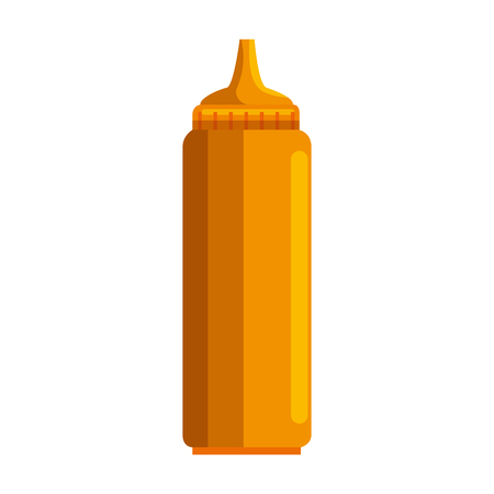 mustard sauce bottle isolated icon vector illustration design