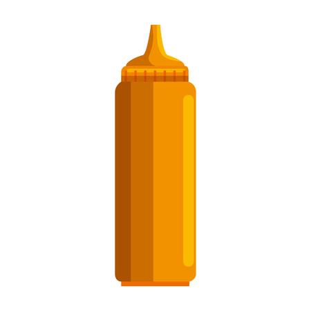 mustard sauce bottle isolated icon vector illustration design