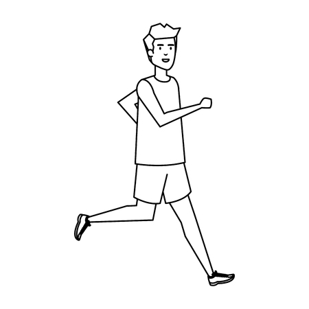 athletic man running character vector illustration design 일러스트