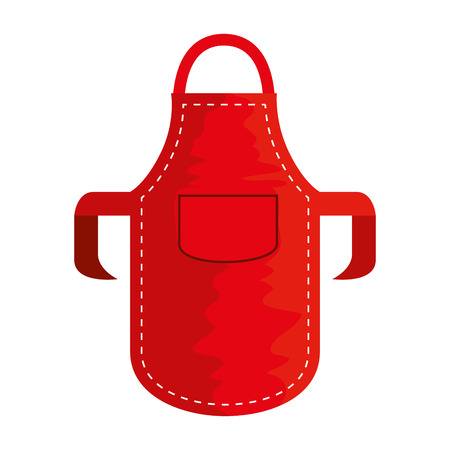 kitchen bbq apron icon vector illustration design