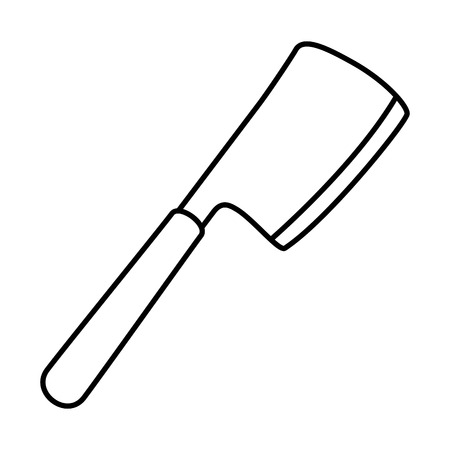 ax grill cutlery icon vector illustration design