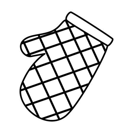 Gant de cuisine icône isolé vector illustration design