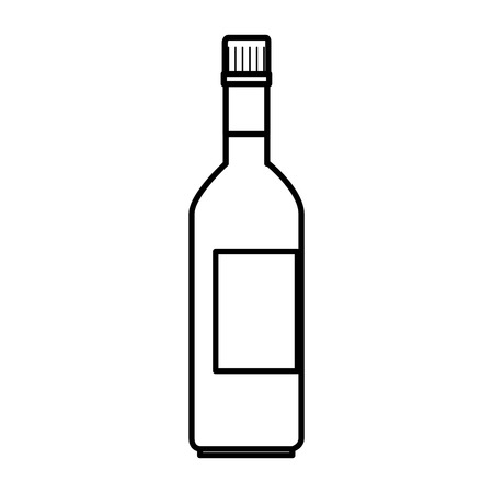 wine bottle isolated icon vector illustration design Stockfoto - 112459321
