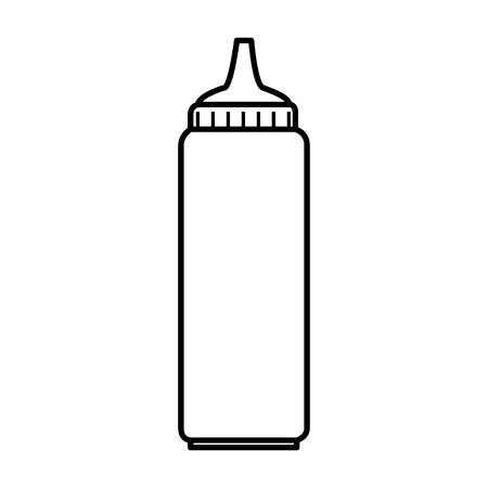 tomato sauce bottle isolated icon vector illustration design  イラスト・ベクター素材