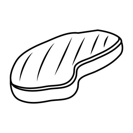 meat beef isolated icon vector illustration design  イラスト・ベクター素材