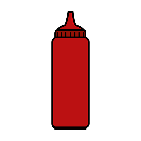 tomato sauce bottle isolated icon vector illustration design 版權商用圖片 - 127475984