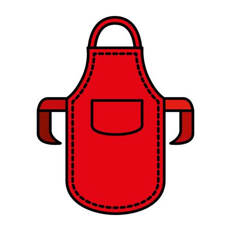 kitchen bbq apron icon vector illustration design Illustration