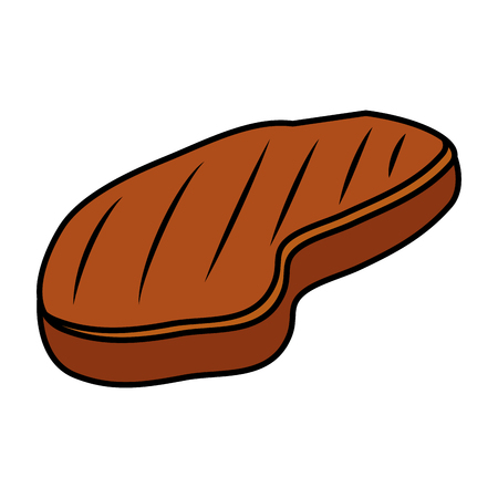 meat beef isolated icon vector illustration design Ilustrace