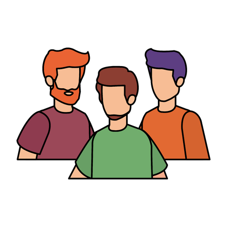 group of men characters vector illustration design Ilustração