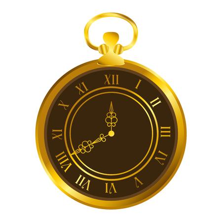 old time clock antique vector illustration design Ilustração