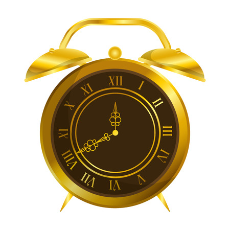 old alarm clock antique vector illustration design