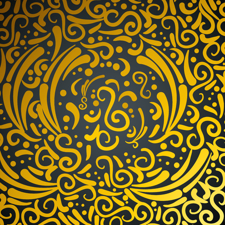 abstract and victorian golden pattern vector illustration design Illustration
