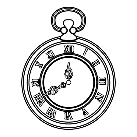 old time clock antique vector illustration design Ilustrace