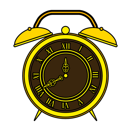 old alarm clock antique vector illustration design Фото со стока - 127476237