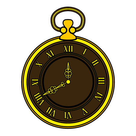 old time clock antique vector illustration design Illusztráció