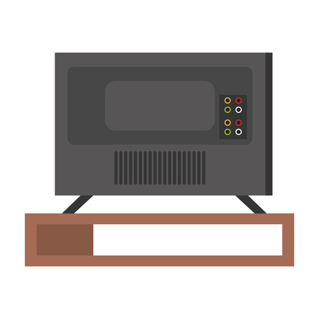 plasma tv back icon vector illustration design