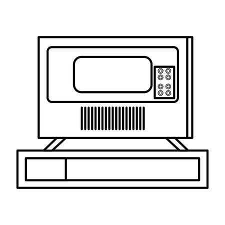 plasma tv back icon vector illustration design
