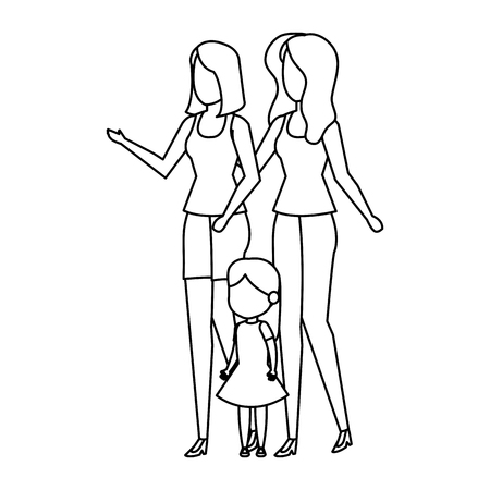 lesbian couple with daughter vector illustration design Zdjęcie Seryjne - 112467839