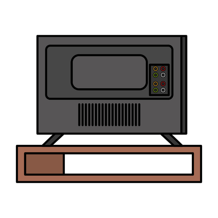 plasma tv back icon vector illustration design Imagens - 127476473