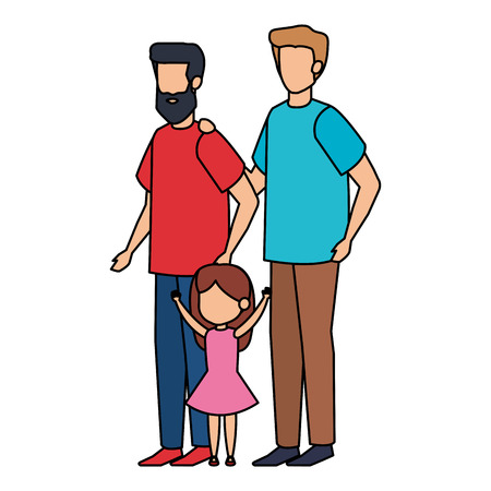 couple with daughter vector illustration design