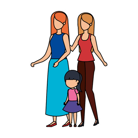 lesbian couple with daughter vector illustration design Zdjęcie Seryjne - 112469303