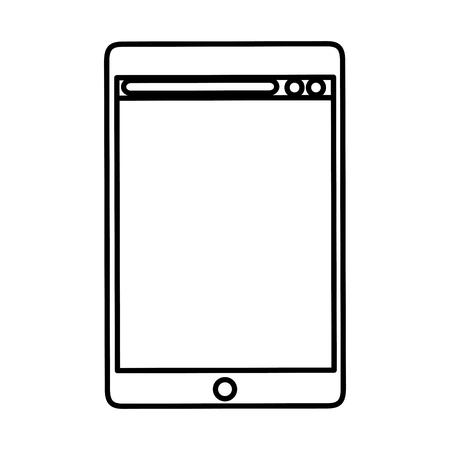 tablet device isolated icon vector illustration design Ilustração