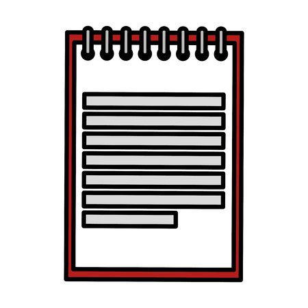 cahier école éducation icône vector illustration design