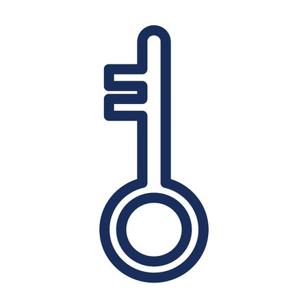 retro key door icon vector illustration design