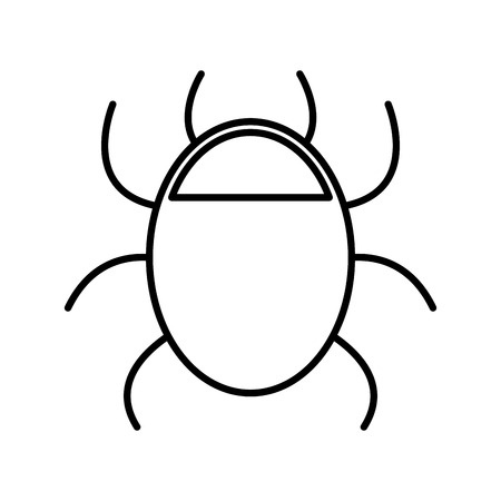bug animal isolated icon vector illustration design
