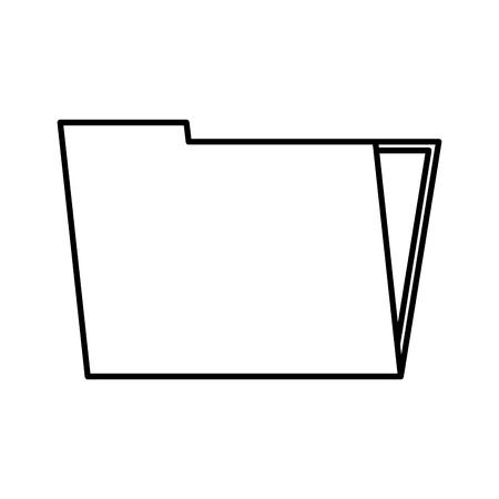 folder document isolated icon vector illustration design Иллюстрация