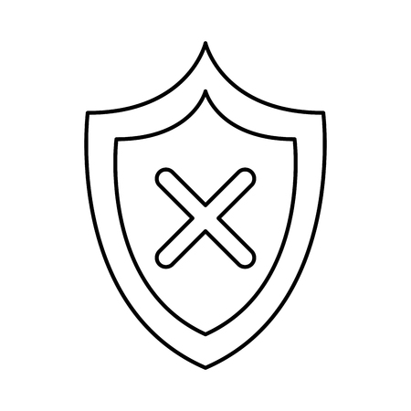 shield security isolated icon vector illustration design 일러스트