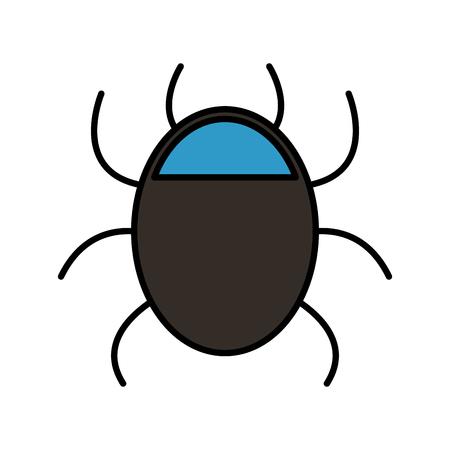 bug animal isolated icon vector illustration design Vector Illustration