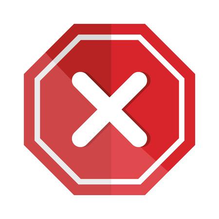 signal with denied mark icon vector illustration design 일러스트