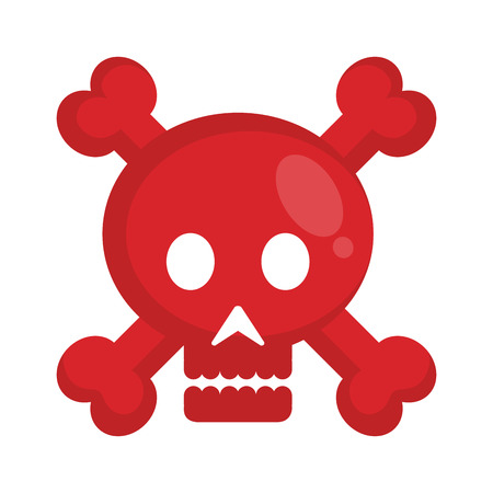 skull danger signal icon vector illustration design