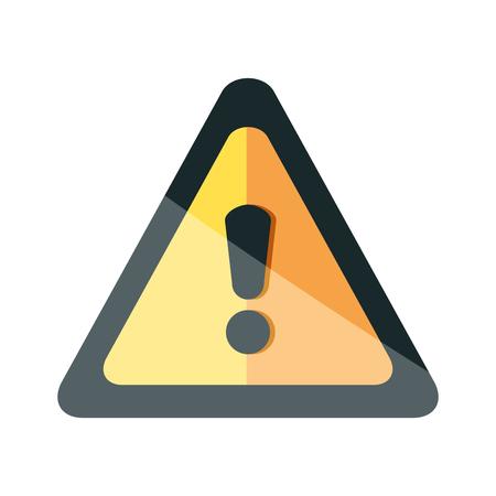 avviso triangolo simbolo icona illustrazione vettoriale design Vettoriali