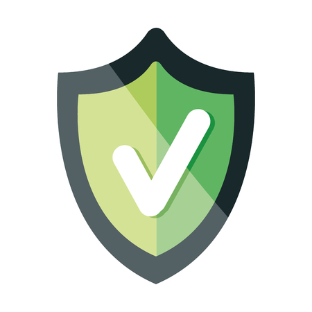 shield security with ok symbol vector illustration design Illustration