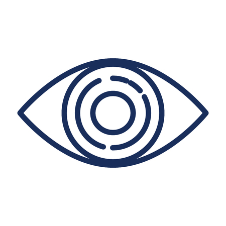 eye view isolated icon vector illustration design