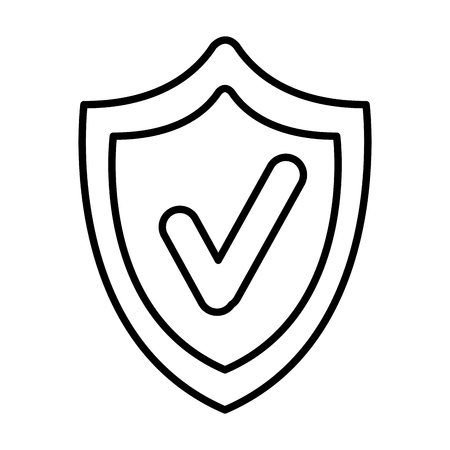shield security with ok symbol vector illustration design 일러스트