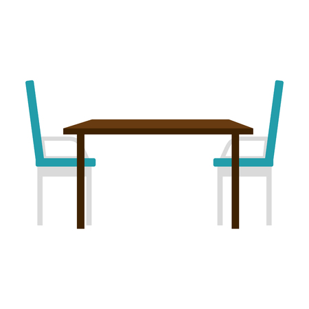 table and chair dinning room vector illustration design