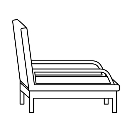 psychiatrist chair isolated icon vector illustration design