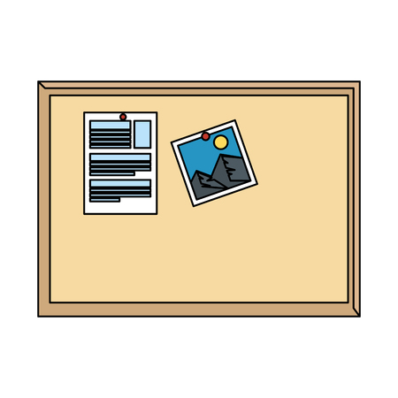 notes board isolated icon vector illustration design