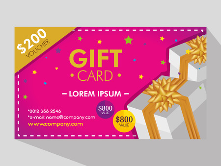 gift coupon discount sale price vector illustration