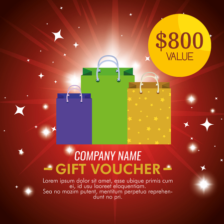gift coupon with special price discount vector illustration Standard-Bild - 127348972