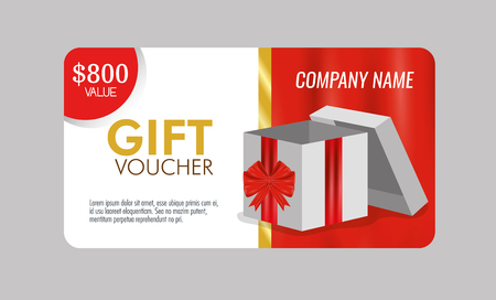 gift voucher with special sale discount vector illustration Archivio Fotografico - 127348983