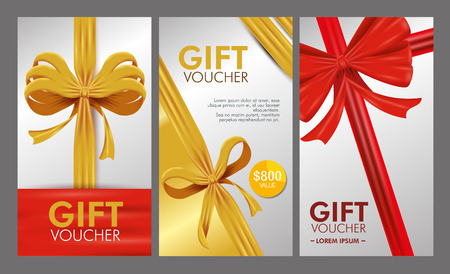 set gift voucher card with special sale vector illustration