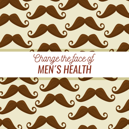 male mustache to face style background vector illustration