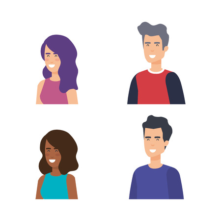 group of people characters vector illustration design 版權商用圖片 - 127349073
